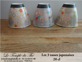 3 tasses à thé japonaises de 20 cl YUZUKI
