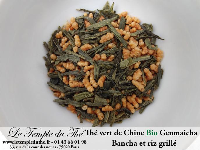 Thé vert de Chine Bio Genmaicha