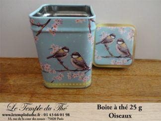 Boîte à thé 25 g oiseaux
