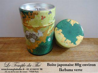 Boîte à thé japonaise 80g Ikebana verte