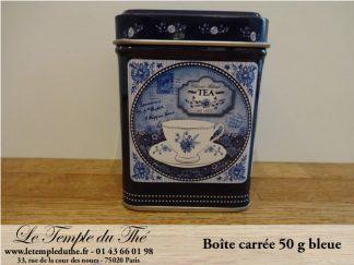 Boîte à thé 50 g bleue