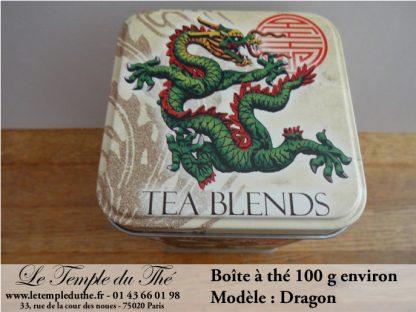 Boîte à thé japonaise 200g fleurs blanches