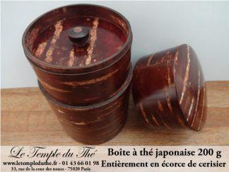 Boîte japonaise à thé entièrement en écorce de cerisier 200 g