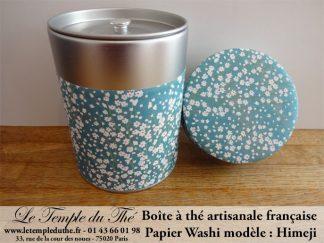 Boîte à thé artisanale française papier Washi modèle Himeji