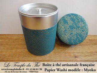 Boîte à thé artisanale française papier Washi modèle Myoko