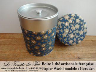 Boîte à thé artisanale française papier Washi modèle Goruden