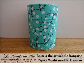 Boîte à thé artisanale française papier Washi modèle Hannan