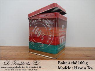 Boîte à thé 100 g Have a tea