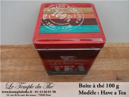 Boîte à thé 100 g exclusiv