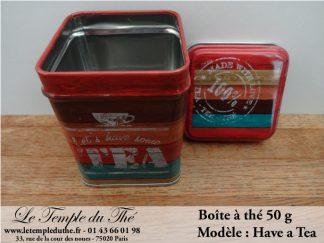 Boîte à thé 50 g modèle Have a tea