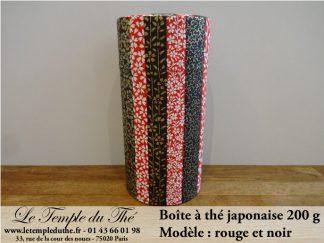Boîte à thé japonaise 200g rouge et noire
