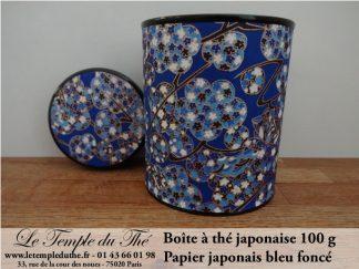 Boîte à thé japonaise Kyoto 100 g bleu foncé