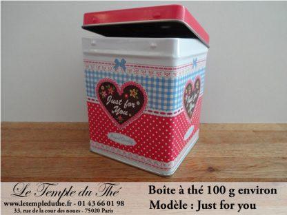 Boîte à thé 100 g Just for you