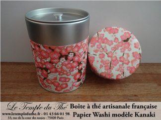 Boîte à thé artisanale française papier Washi modèle Kanaki