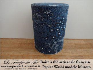 Boîte à thé artisanale française papier Washi modèle Muroto