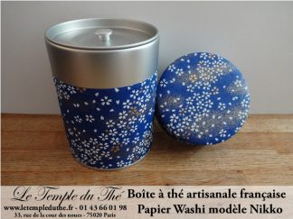Boîte à thé artisanale française papier Washi modèle Nikko