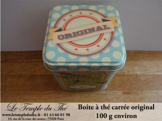 Boite à thé Métal 100 g modèle : Original