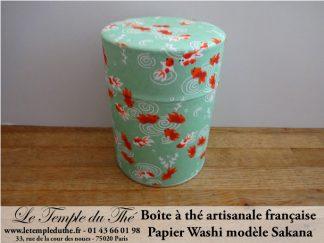 Boîte à thé avec papier japonais