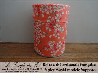 Boîte à thé artisanale française papier Washi modèle Sapporo