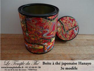Boîte à thé japonaise Hanayo 100g 3e modèle