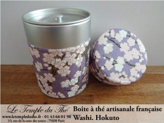 Boite à thé artisanale française. Washi. Hokuto
