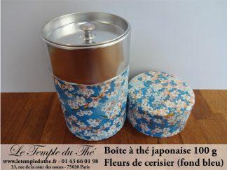 Boîte à thé japonaise. Fleurs de cerisier (fond bleu) 100 g