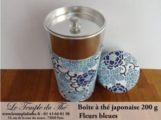 Boîte à thé japonaise. Fleurs bleues 200 g
