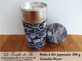 Boîte à thé japonaise. Grandes fleurs 200 g