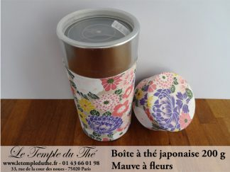 Boîte à thé japonaise. Mauve à fleurs 200 g