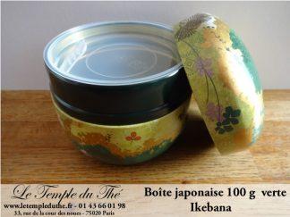 Boîte à thé japonaise 100 g Ikebana verte