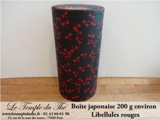 Boîte japonaise 200 g libellules rouges