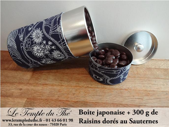 Le raisin doré au Sauternes et sa boîte japonaise
