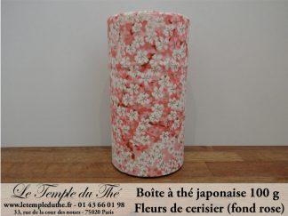 Boîte à thé japonaise. Fleurs de cerisier (fond rose) 100 g