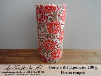 Boîte à thé japonaise. Fleurs rouges 200 g