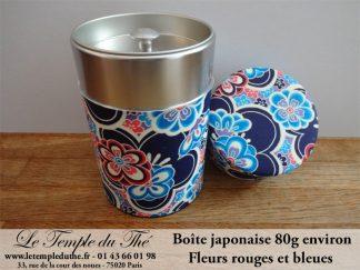 Boîte à thé japonaise 80g fleurs