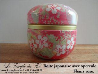 Boîte à thé japonaise 100 g fleur rose