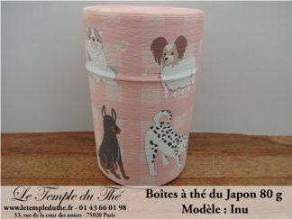 Boîte à thé japonaise Inu 80 g