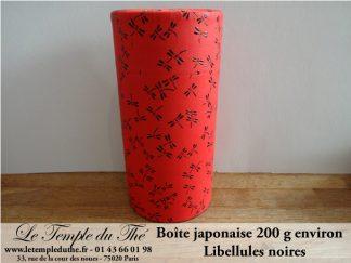 Boîte japonaise 200 g libellules noires