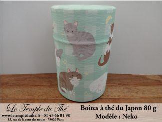 Boîte à thé japonaise modèle Neko 80 g