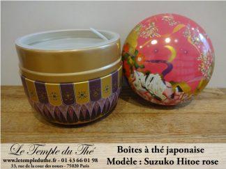 Boîte à thé japonaise 100 g Hitoe rose
