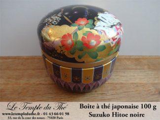 Boîte à thé japonaise 100 g  Suzuko Hitoe noire