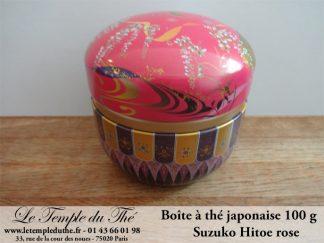 Boîte à thé japonaise 100g  Suzuko Hitoe rose