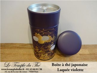 Boîte à thé japonaise 200g violette