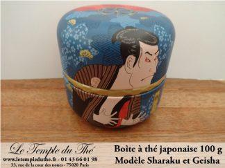 Boîte à thé japonaise 100 g Geisha et Sharaku