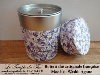 Boîte à thé artisanale française papier Washi modèle Agono