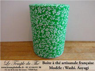 Boîte à thé artisanale française papier Washi modèle Aoyagi