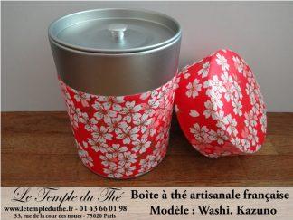 Boîte à thé artisanale française papier Washi modèle Kazuno