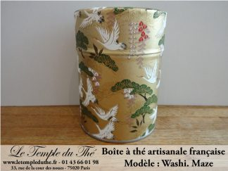 Boîte à thé artisanale française papier Washi modèle Maze