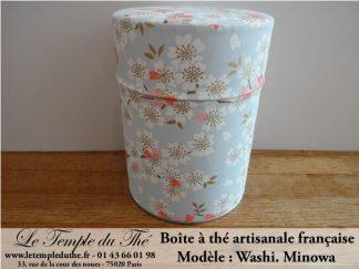 Boîte à thé artisanale française papier Washi modèle Minowa