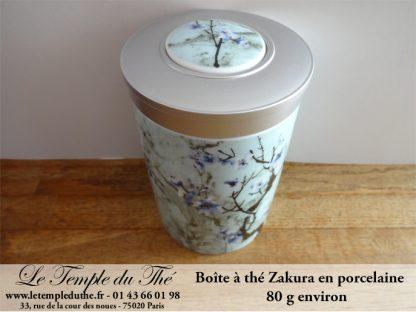Boîte à thé Zakura en porcelaine 80 g